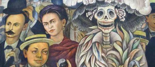 """Ausschnitt aus Diego Riveras Fresko """"Traum vom einem Sonntagnachmittag im Alameda-Park"""", Mexico-City 1948 (Bildnachweis: Pivat)"""