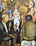 """Ausschnitt aus Diego Riveras Fresko """"Die Weisen"""", Mexico-City 1928 (Bildnachweis: Privat)"""
