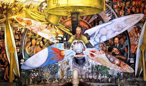 """Ausschnitt aus Diego Riveras Fresko """"Der Mensch am Scheideweg"""", Mexico-City 1934 (Bildnachweis: Privat)"""