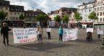 """""""Gesundheitsschutz auch für Geflüchtete"""" in Mannheim, 18. April 2020 (Foto: cki/KIM)"""
