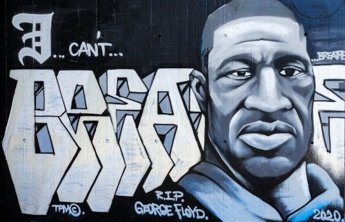 George Floyd, Graffiti in Mannheim (Foto: Privat)