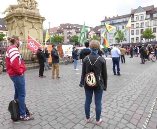 Kundgebung am 23. Mai 2020 auf dem Mannheimer Marktplatz (Foto: Avanti²)