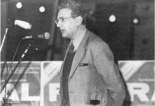 Ernest Mandel wahrscheinlich bei einer Veranstaltung in Belgien Anfang der 70er Jahre (Foto: www.ernestmandel.org)