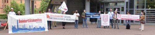 Solidaritätsaktion in Frankfurt am Main gegen BR-Mobbing bei Hyundai, 19. Juni 2020 (Foto: Avanti²)