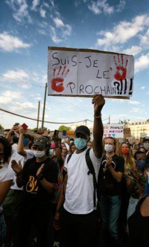 Demo gegen die rassistischen Ermordungen von Adama Traore und Georges Floyd, Paris am 2. Juni 2020 (Foto: Copyright Photothèque Rouge /Martin Noda / Hans Lucas)