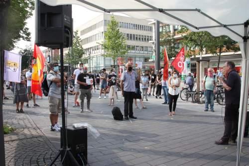 Kundgebung im Rahmen des Aktionstages von #nichtaufunseremrücken in Mannheim, 18. Juli 2020 (Foto: Sevinc Sönmez)