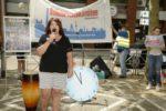 Protestaktion von ver.di gegen Kaufhof-Schließung in Mannheim, 04. Juli 2020 (Foto: helmut-roos@web.de)