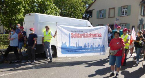 Protest gegen Schließung der Glasfabrik Mannheim, 23. Juli 2020 (Foto: Avanti²)