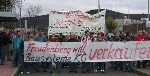 Demo bei Freudenberg in Weinheim, November 2006 (Foto: Privat)