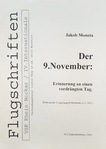J. Moneta, Der 9. November, VSP-Broschüre 1993