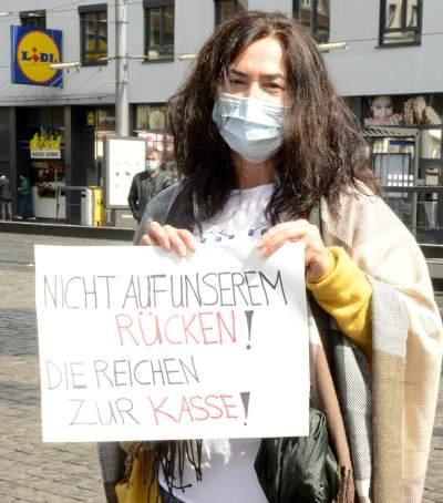 Kundgebung am 1. Mai 2020 in Mannheim (Foto: helmut-roos@web.de)