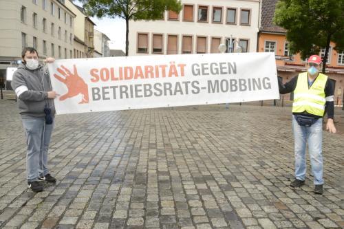 1. Mai 2020, Marktplatz Mannheim (Foto: helmut-roos@web.de)