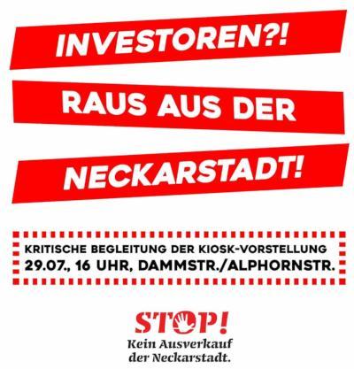 """""""Aufruf"""": Investoren raus aus der Neckarstadt"""