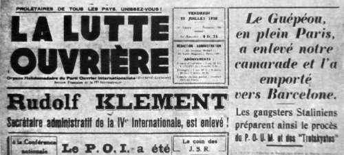 Titelseite von La Lutte Ouvrière, Wochenzeitung der POI, der französischen Sektion der IV. Internationale (Bild: Privatarchiv)