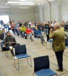 Betriebsversammlung in Corona-Zeiten, Bombardier Mannheim, 16. Juli 2020 (Foto: helmut-roos@web.de)