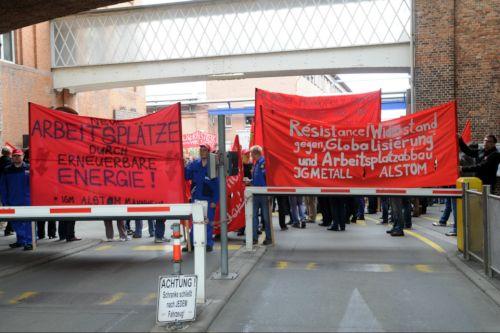 Aktionstag bei Alstom Mannheim, 29. April 2014 (Foto: helmut-roos@web.de)