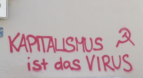 Graffito in Mnnheim, 4. April 2020 (Foto. Avanti²)