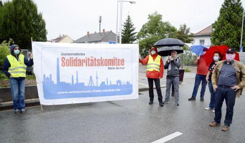 Solidarität mit der Belegschaft von Bombardier in Mannheim, 16. Juli 2020 (Foto: helmut-roos@web.de)