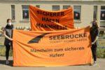 SEEBRÜCKE Menschenkette, Mannheim 26. April 2020 (Foto: helmut-roos@web.de)