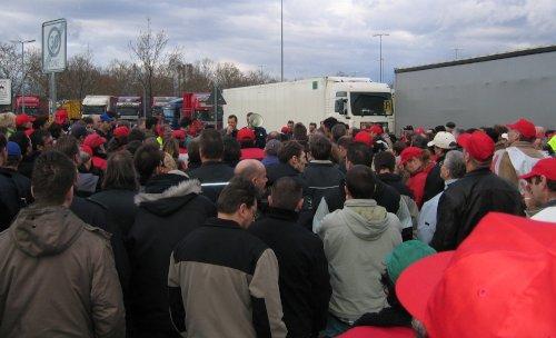 Torblockade bei Freudenberg in Weinheim, 19. Januar 2007 (Foto:Privat)