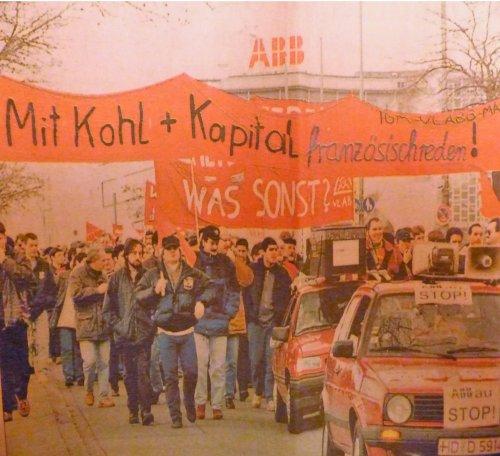 Demo gegen Abbau bei ABB Mannheim-Käfertal, 22 Januar 1998 (Foto:Privat)