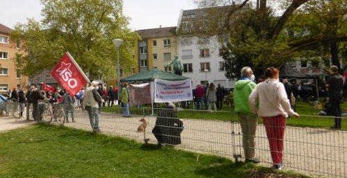 Kundgebung auf dem Schillerplatz Mannheim, 8. Mai 2021 (Foto:Avanti²)