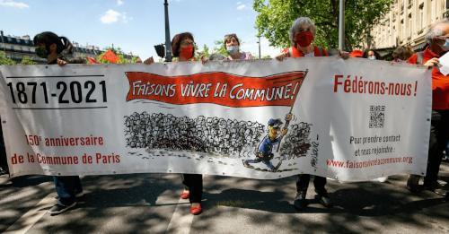 Demo zum 150. Jahrestag der blutigen Unterdrückung der Pariser Kommune, 29. Mai 2021 (Foto: Copyright Photothèque Rouge / Martin Noda / Hans Lucas)