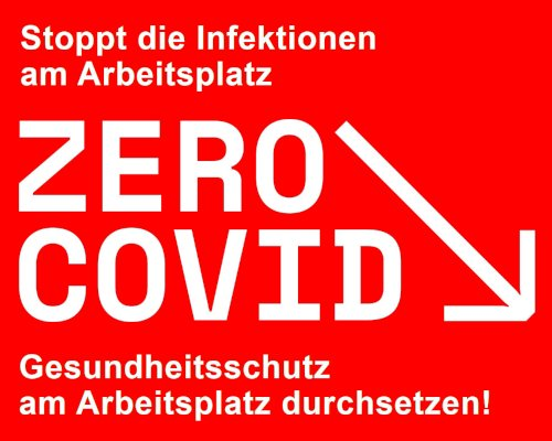 ZeroCovid-Logo zu Gesundheitsschutz am Arbeititsplatz