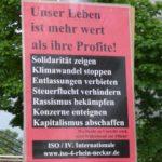 ISO-Plakat in Mannheim, 26. April 2019. (Foto: Avanti².)