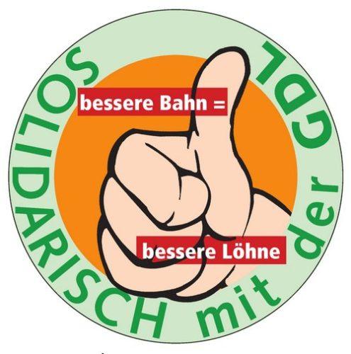 Logo der Streikzeitung: Solidarisch mit der GDL
